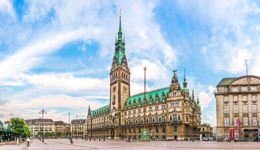 Rathaus Hamburg in der Vergangenheit