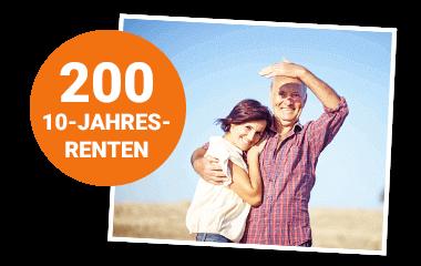 Glückliches Paar mit Störer 200 10-Jahres-Renten 380x240