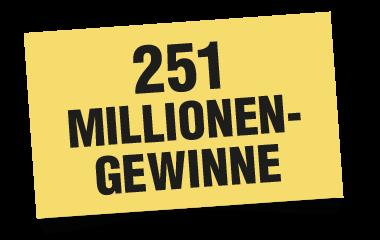 Texthinweis: 251 Millionen-Gewinne SKL-Millionenspiel 380x240