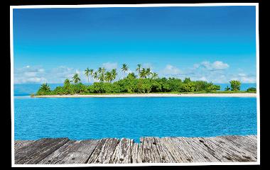 Insel mit Palmen 380x240