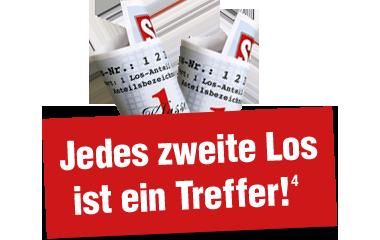 Texthinweis und Lose: Jedes 2. Los ein Treffer 380x240