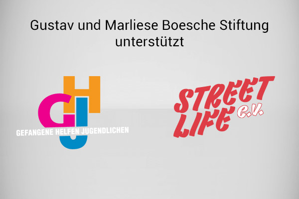 Gustav und Marliese Boesche Stiftung unterstützt