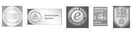 Sicherheit Garantiert Logos