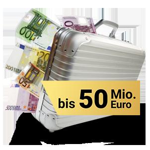Geldkoffer - Bis zu 50 Mio. Euro