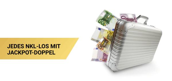 Geldkoffer: Jedes NKL-Los mit Jackpot-Doppel