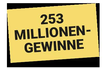 253 Millionen-Gewinne bei der 150. SKL-Lotterie